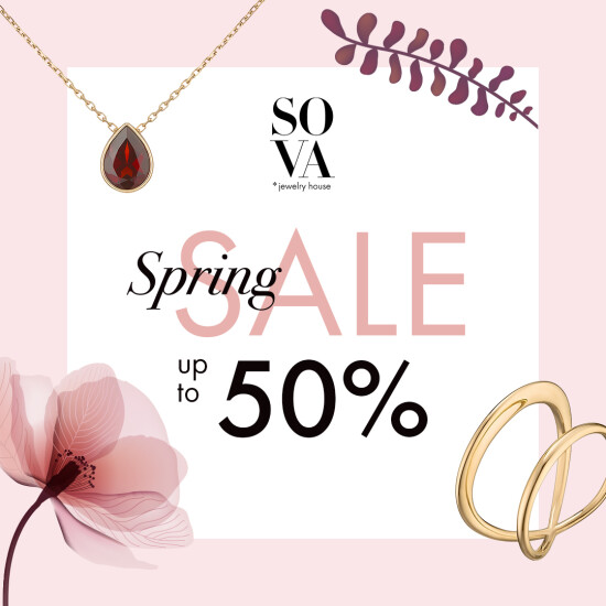 SOVA Spring Sale up to 50%